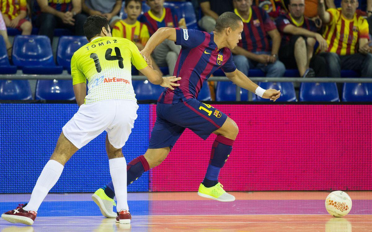 Gran balanç culer a la pista del Palma Futsal