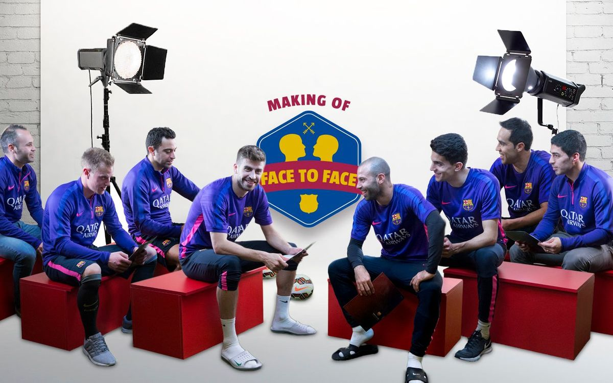 Making Of: Our players face each other
