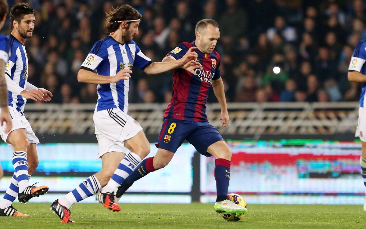 Highlights of Real Sociedad v FC Barcelona