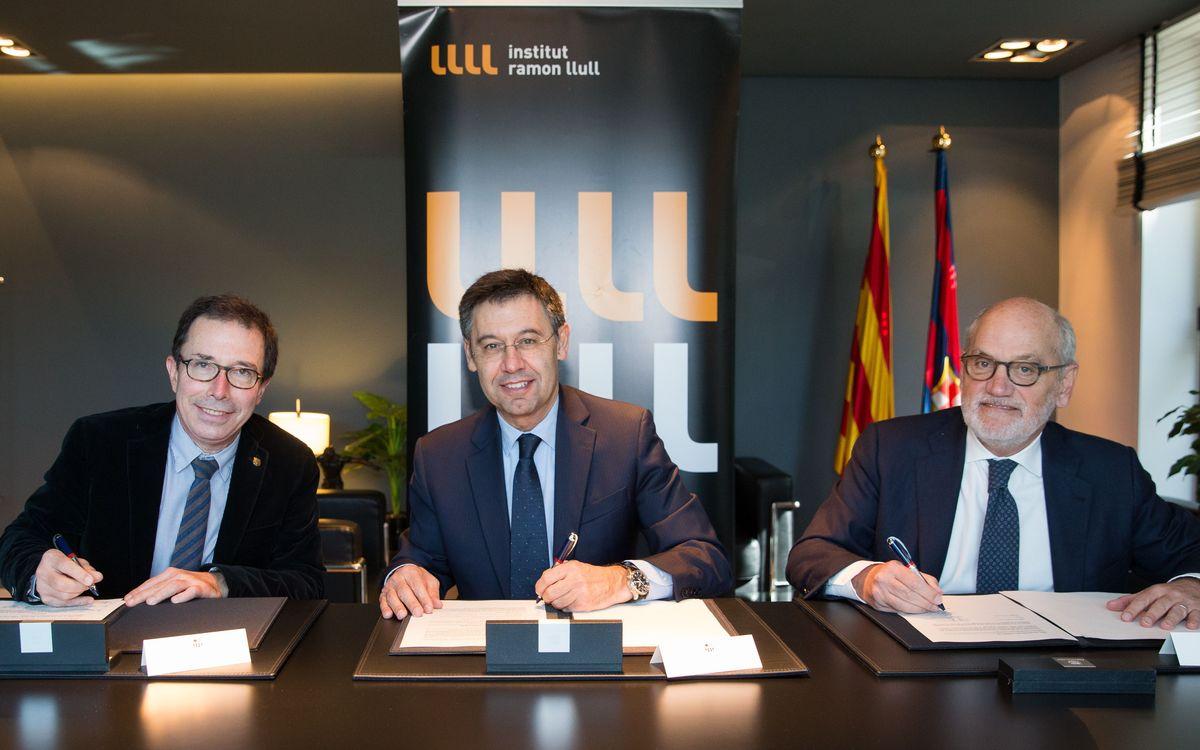 Acord de col·laboració amb l'Institut Ramon Llull per fomentar la recerca universitària al Centre de Documentació del FC Barcelona