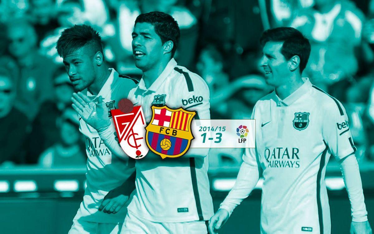 Granada: 1 - FC Barcelona: 3