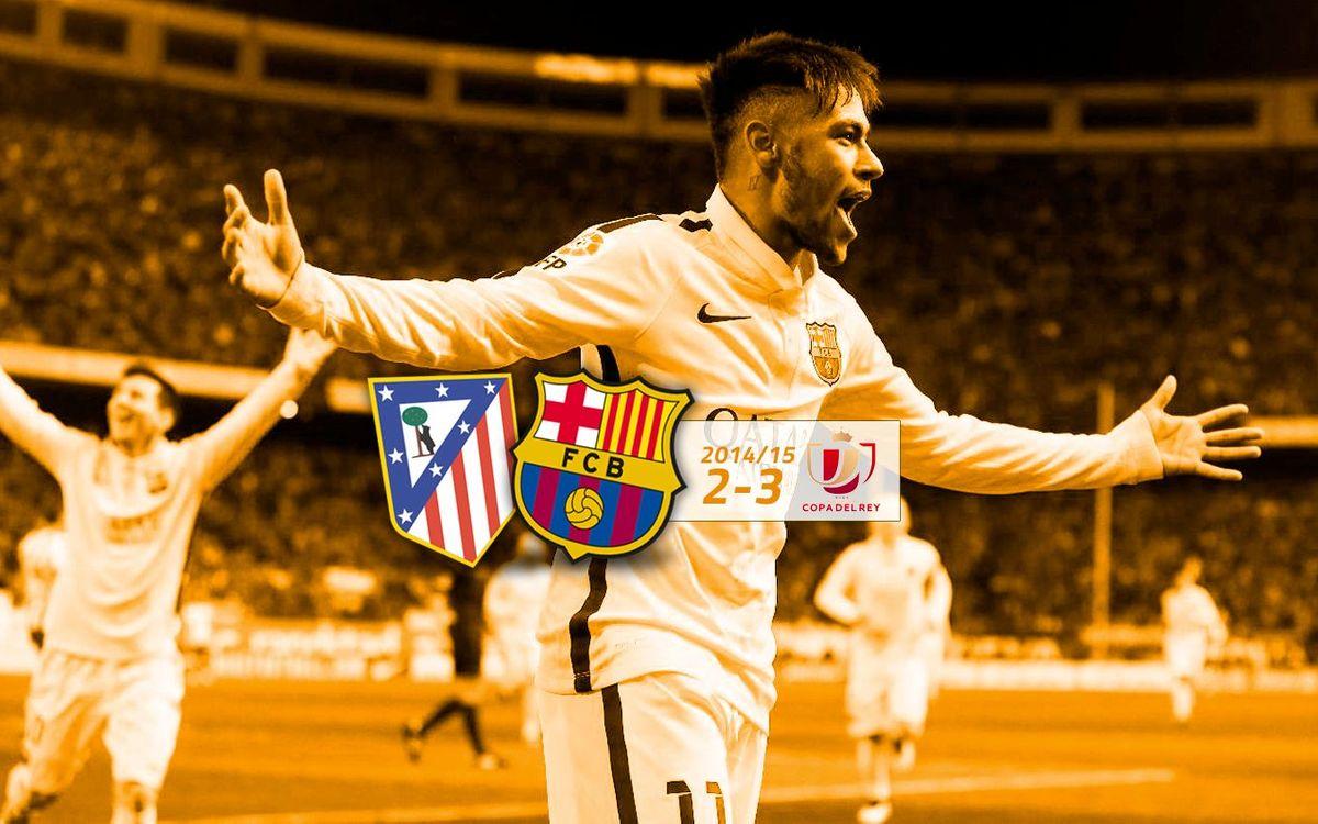 Atlètic de Madrid: 2 - FC Barcelona: 3