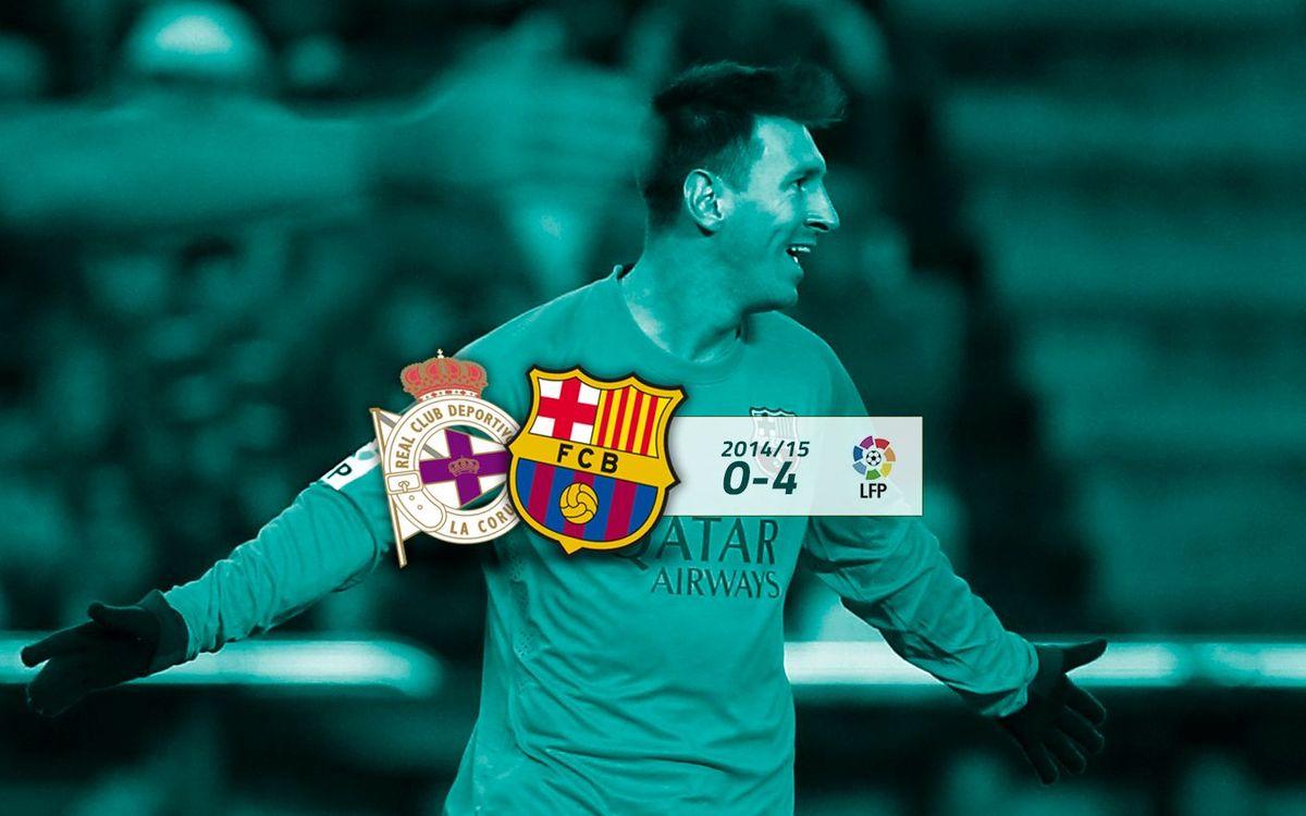 Deportivo de la Corunya: 0 - FC Barcelona: 4