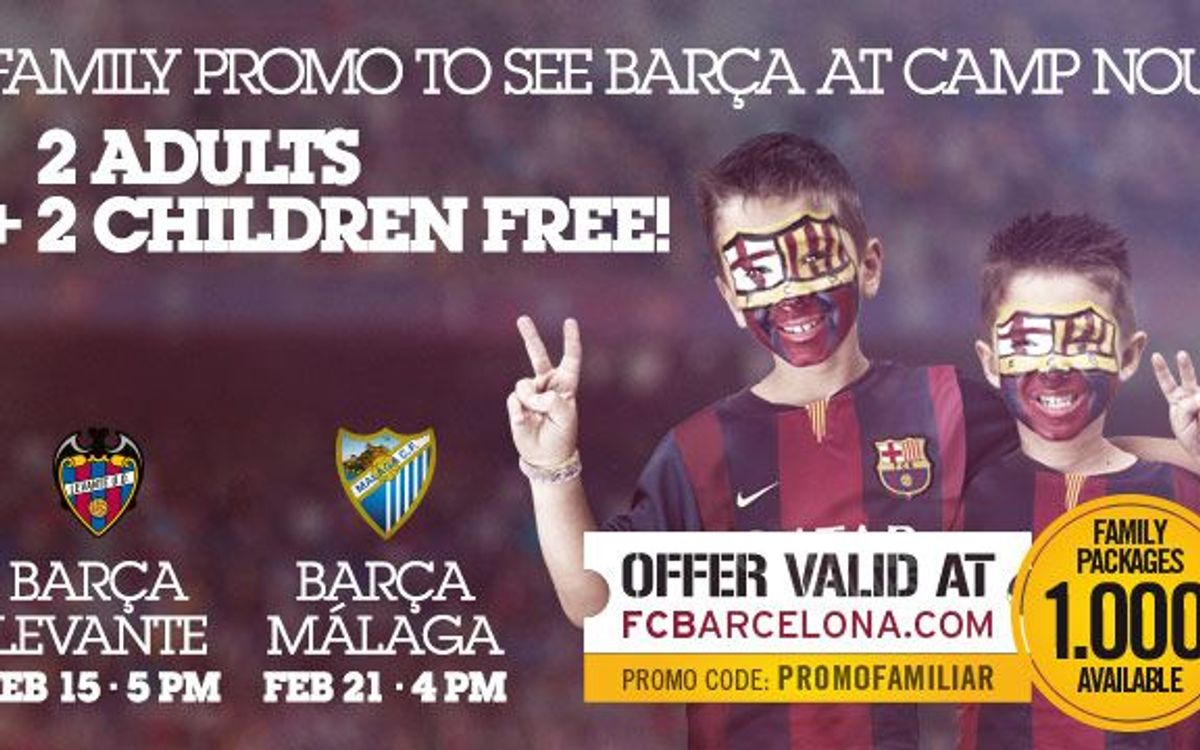 Family activities on Sunday for the match versus Levante
