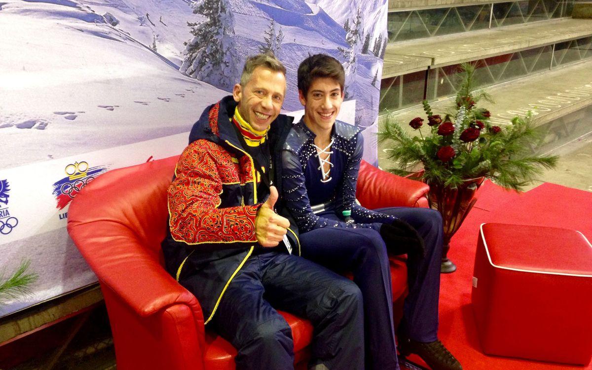 Aleix Gabara, setè al Festival Olímpic de la Joventut