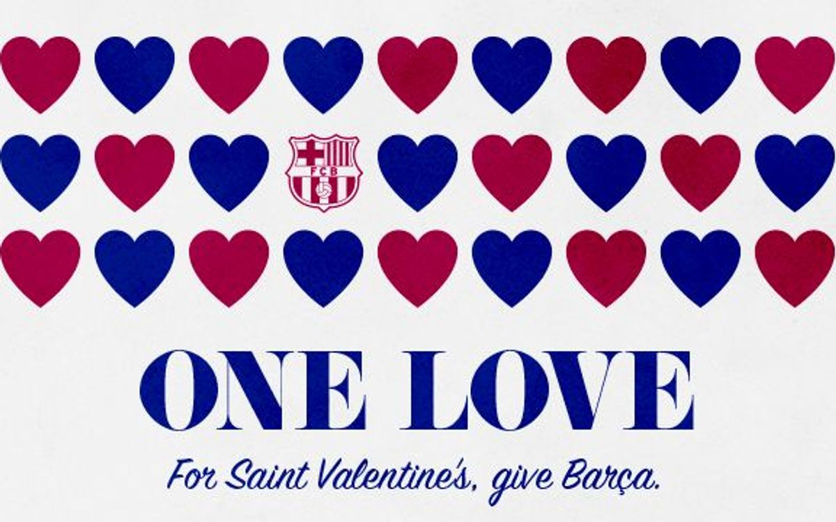 Make FC Barcelona your Valentine's Day first