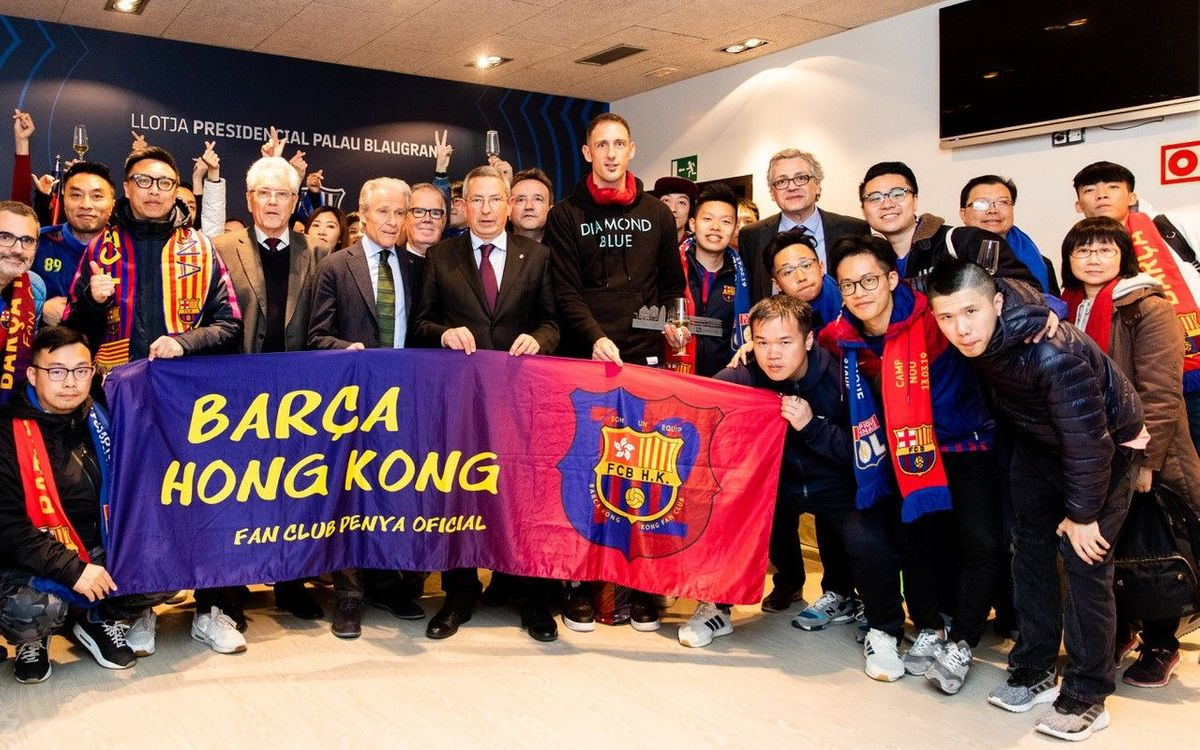 Recepción a la Peña Barça de Hong Kong