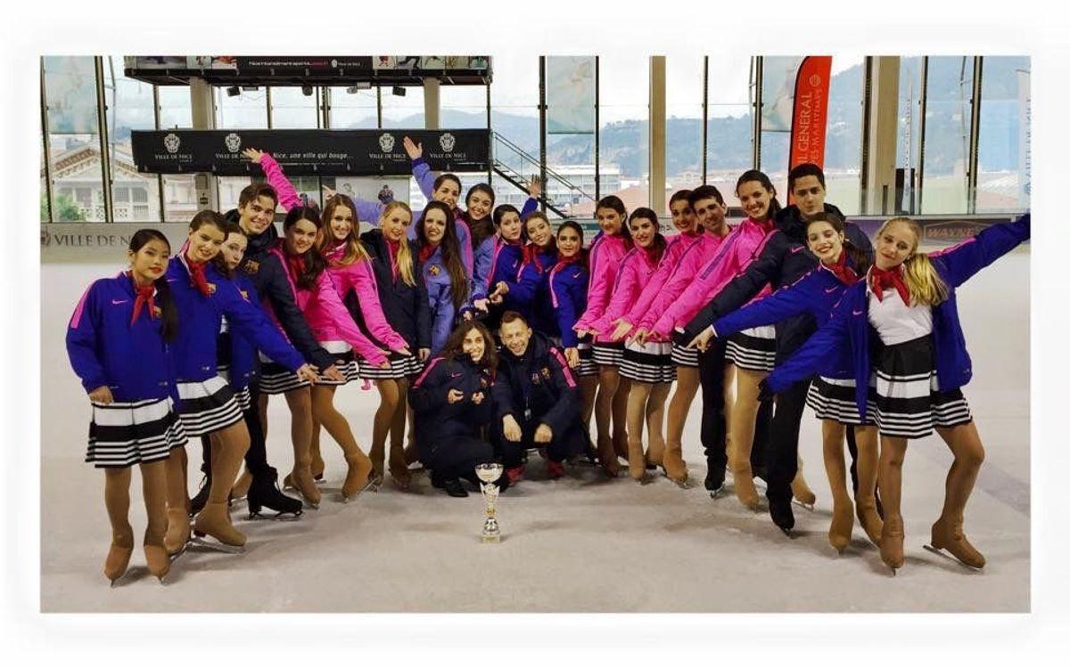 L'equip de ballet sobre gel del Barça, present a Niça