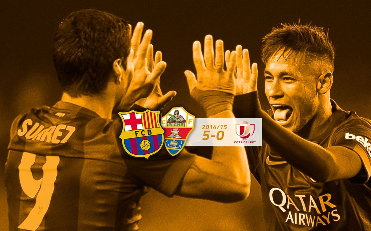 FC Barcelona: 5 - Elx: 0