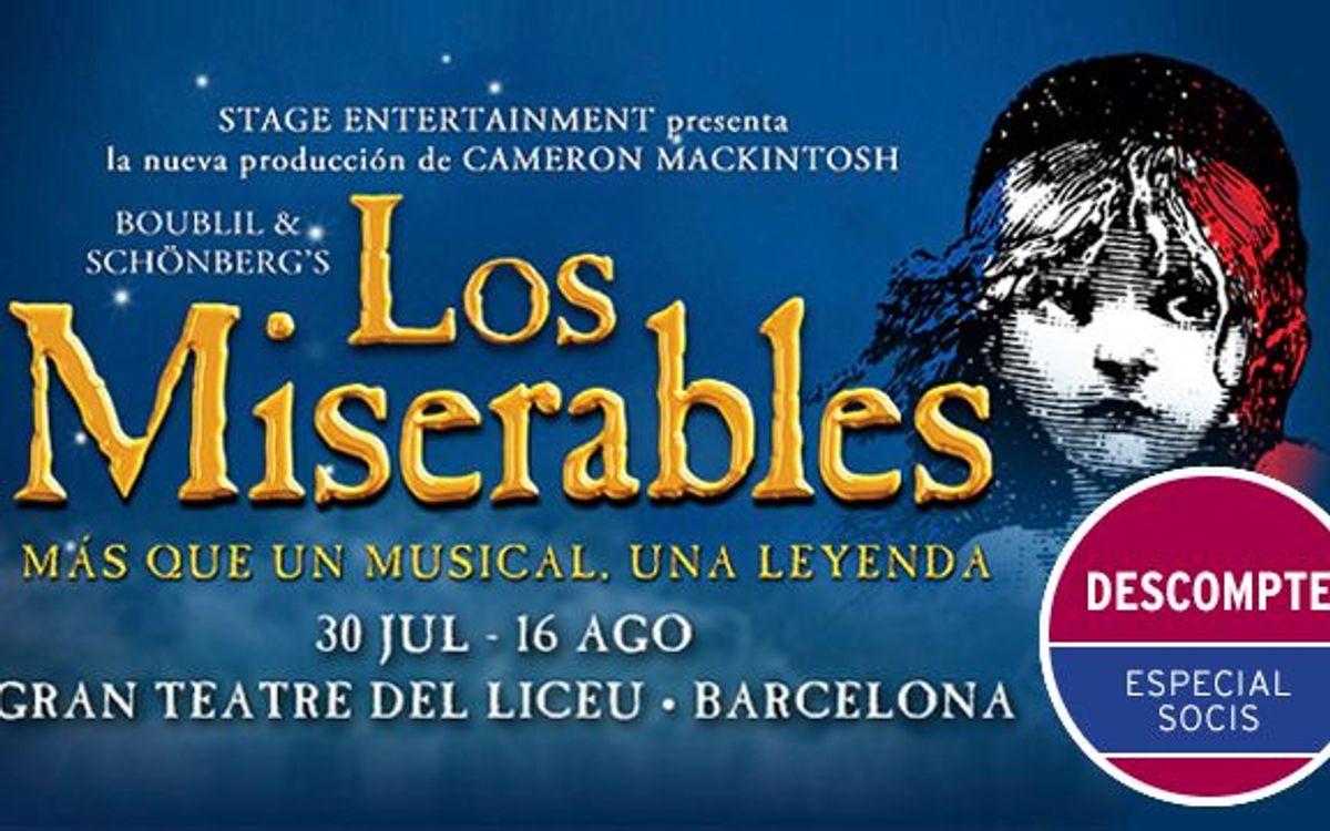 'Los Miserables' al Gran Teatre del Liceu amb descompte especial per a socis del FC Barcelona