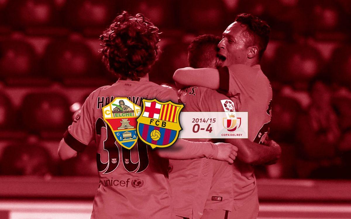 Elx CF: 0 - FC Barcelona: 4