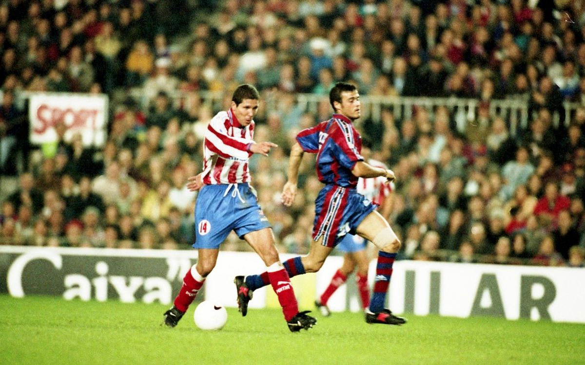 Luis Enrique and Diego Simeone past battles