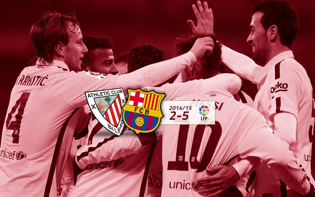 Athletic Club: 2 - FC Barcelona: 5