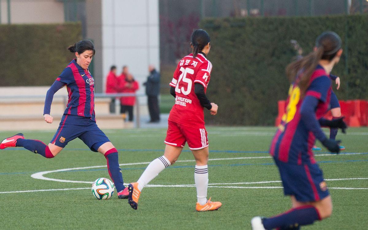 FC Barcelona - Hyundai Steel Red Angels WFC (1-0): Victòria en el retorn de Miriam (1-0)