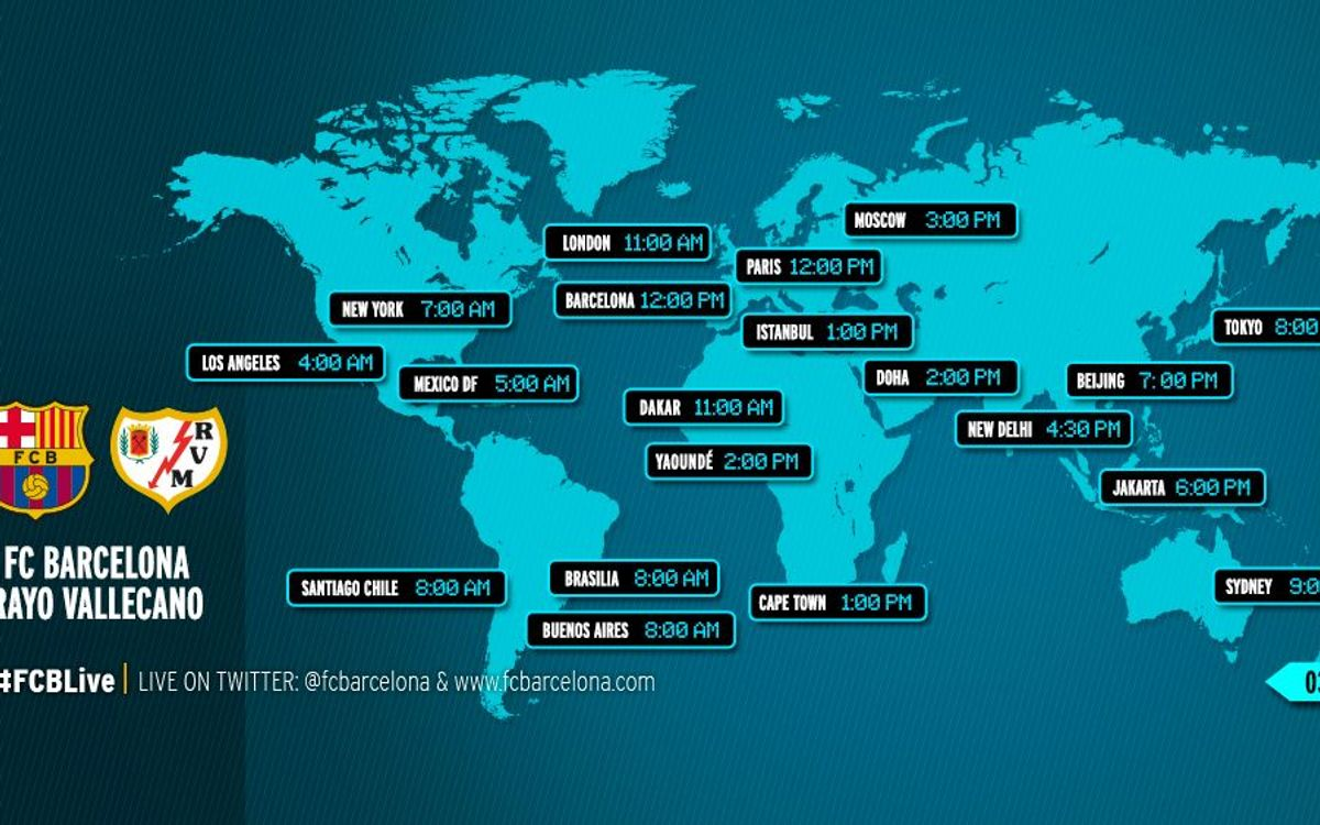 When and where to watch the league game between FC Barcelona v Rayo Vallecano
