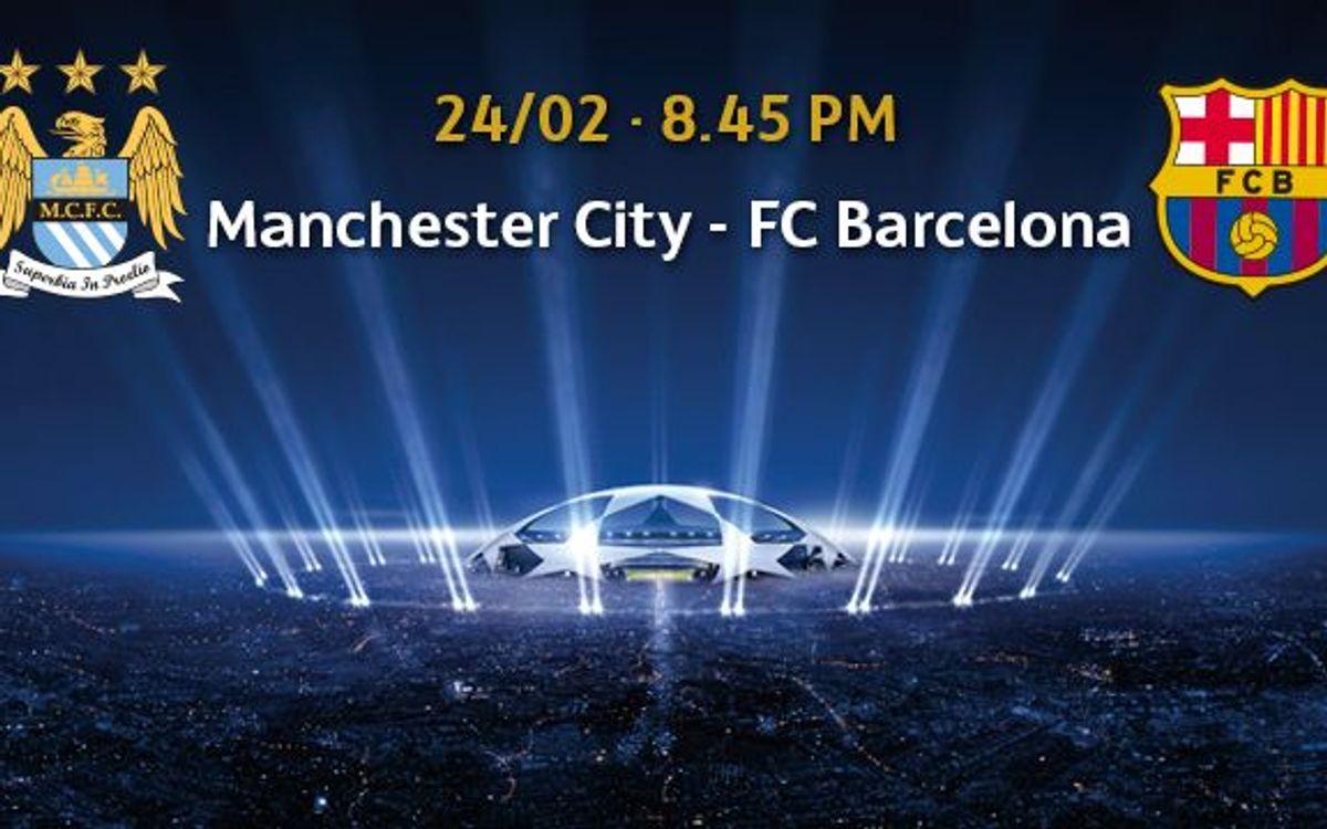 Manchester City v Barça, tickets from February 2
