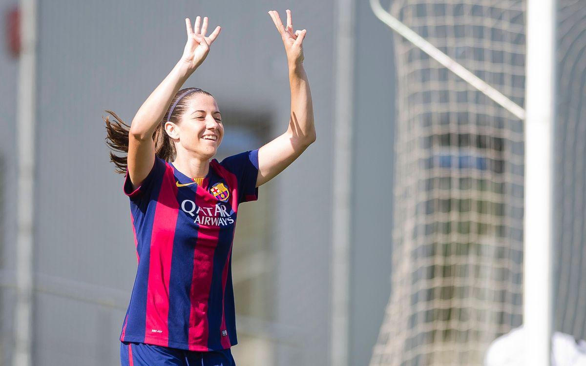 FC Barcelona women beat Santa Teresa 4–0
