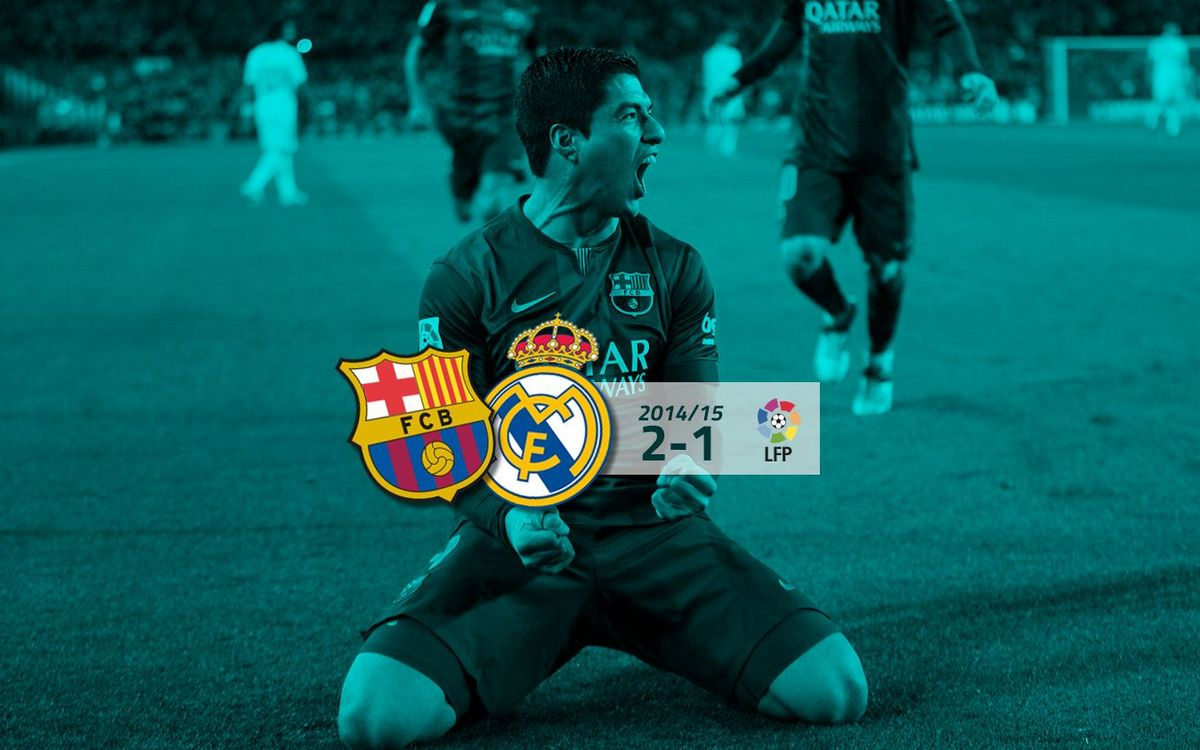 FC Barcelona: 2 - Real Madrid CF: 1