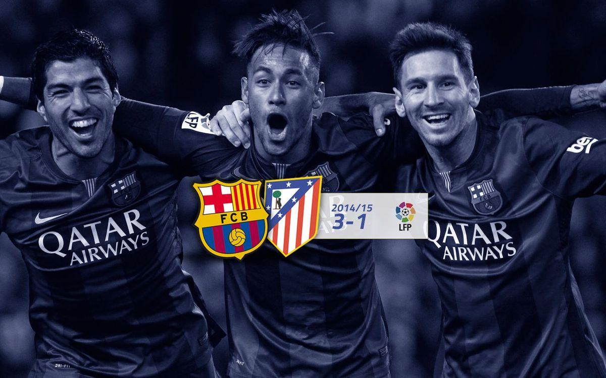 FC Barcelona: 3 - At. de Madrid: 1