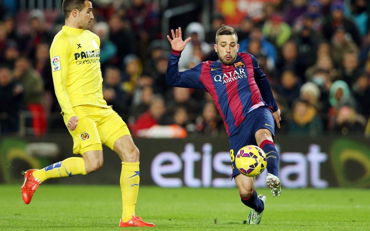 Jordi Alba enjoying FC Barcelona's fine form