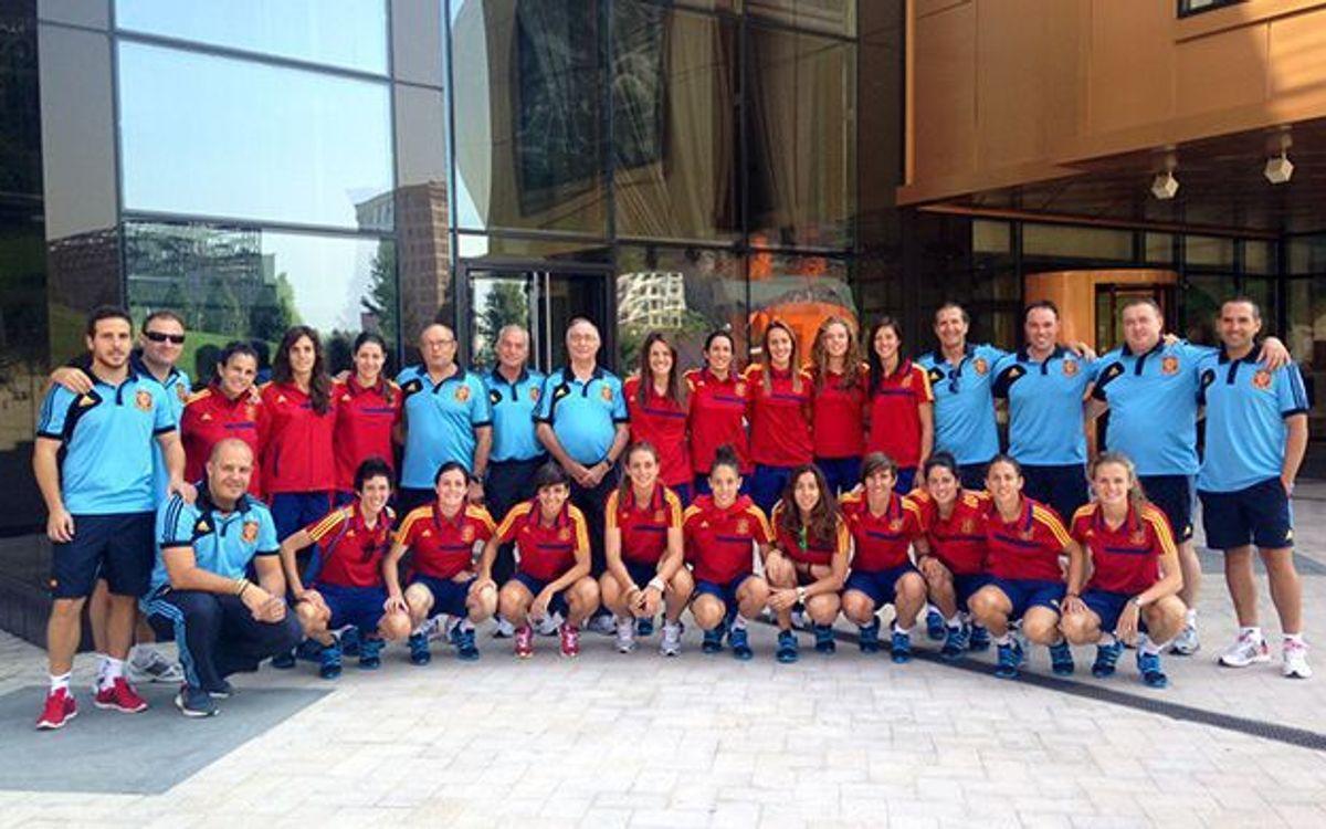 Vuit jugadores concentrades amb la selecció espanyola
