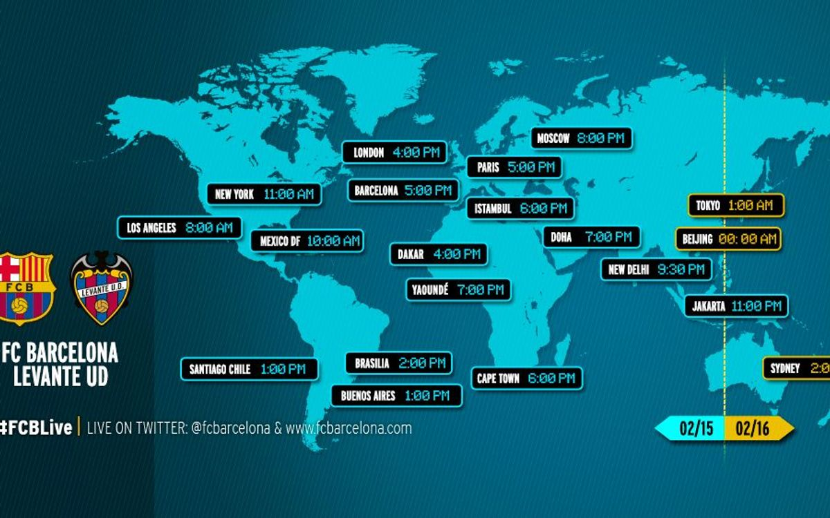 When and where to watch the league game between FC Barcelona and Levante