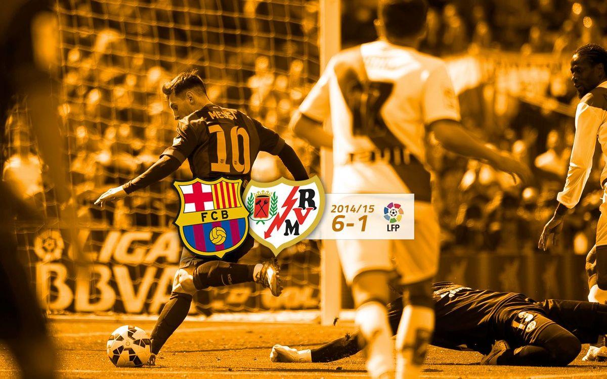 FC Barcelona: 6 - Rayo Vallecano: 1