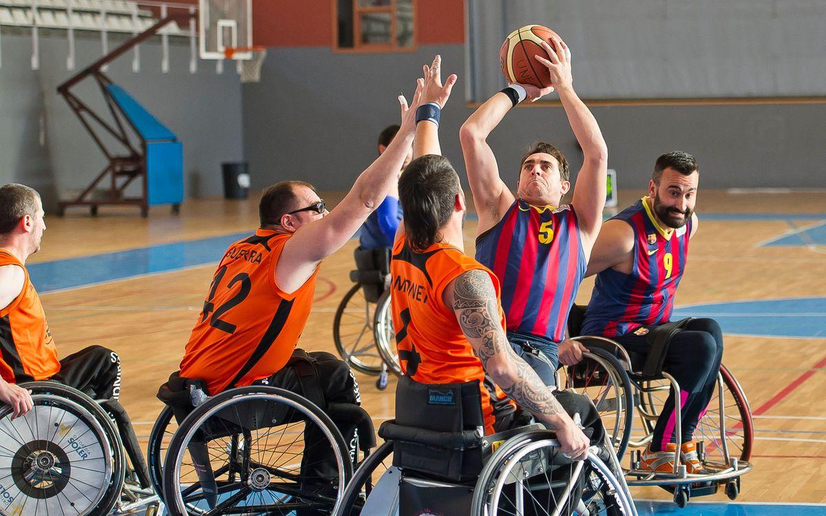Una altra victòria per a l'equip de bàsquet en cadira de rodes