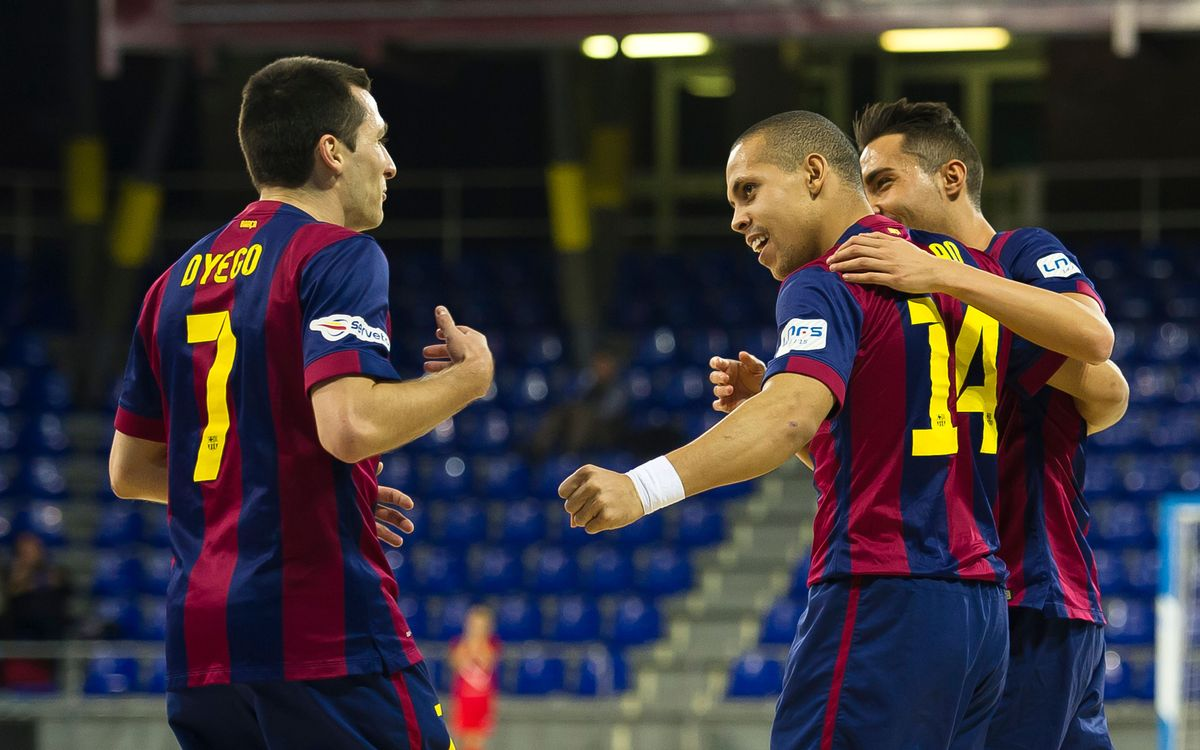 FC Barcelona rout Peníscola 5–2 to stay leaders