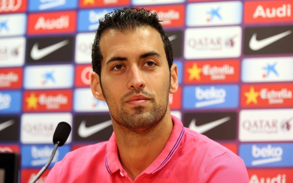 LIVE - Sergio Busquets press conference ahead of the match against Villarreal