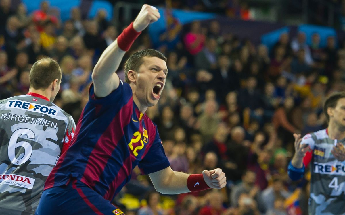 FC Barcelona lock up first in group with 33–27 win over KIF Kolding