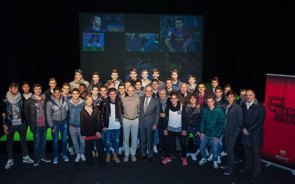 El FC Barcelona, a la preestrena de l'espectacle 'Foot-ball' al TNC