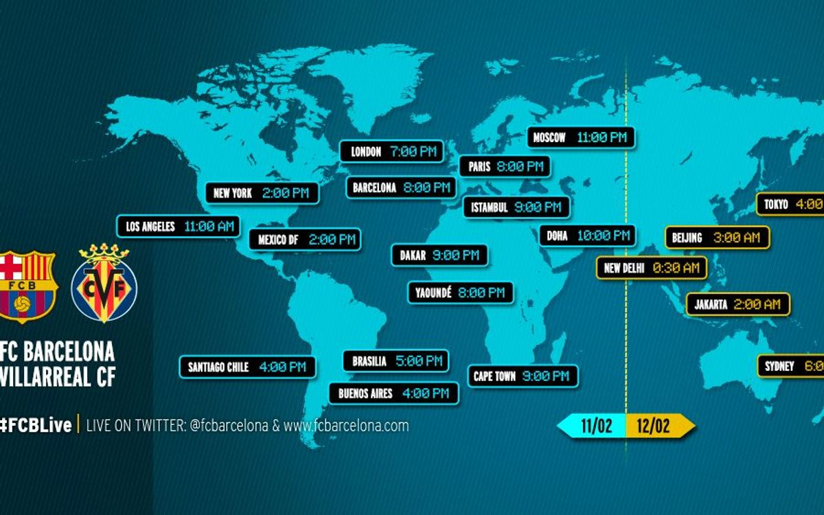 FC Barcelona v Villarreal: When and where to watch the match