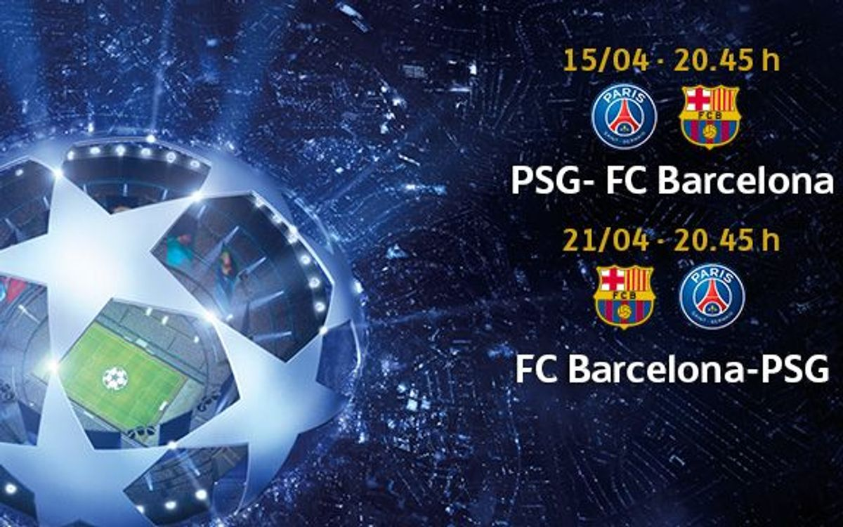 PSG v Barça, tickets from March 27