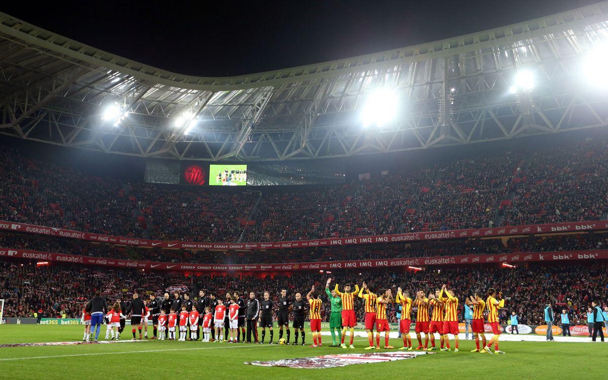 Athletic Club – FC Barcelona: Hi haurà sorteig per anar a San Mamés