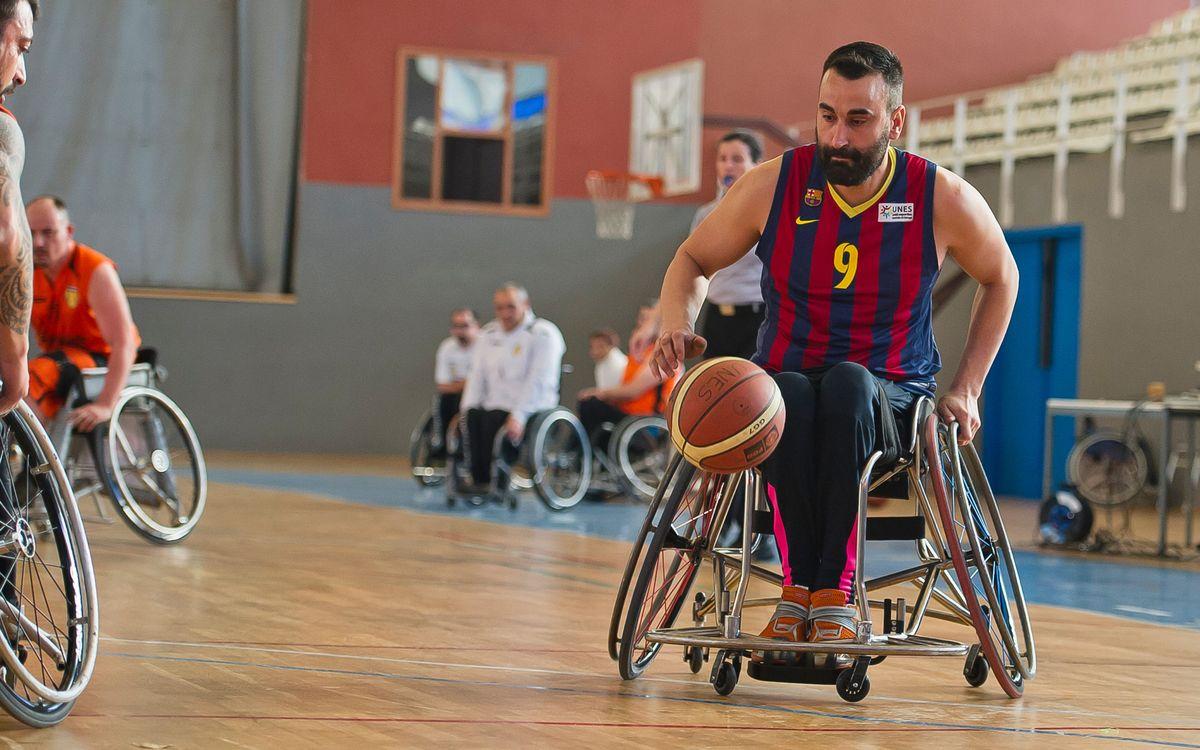 El bàsquet en cadira de rodes es manté líder gràcies a la victòria a la pròrroga (54-42)
