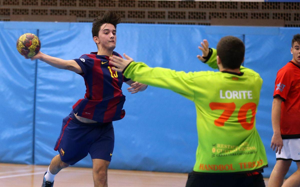 L'equip juvenil del Barça d'handbol, campió de Catalunya