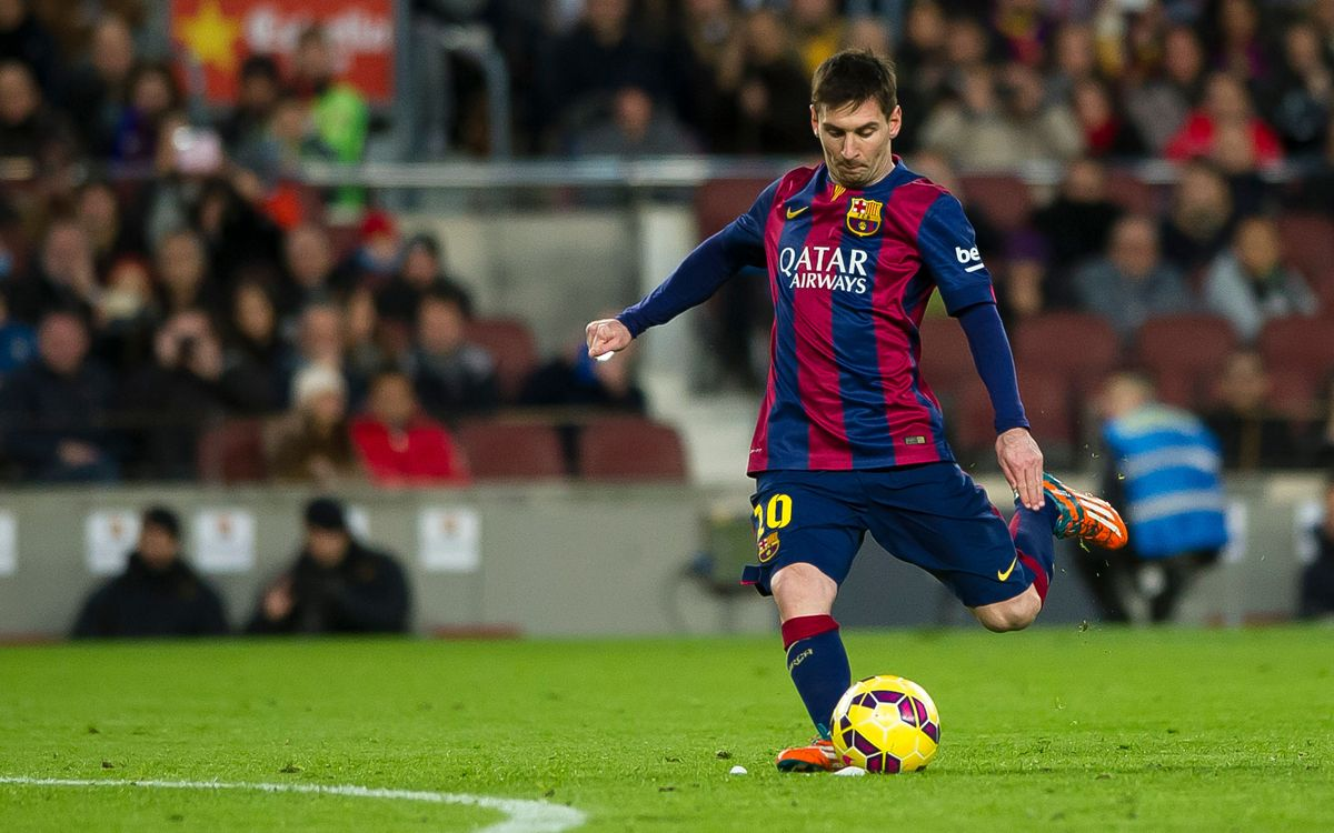 Leo Messi on fire at Camp Nou