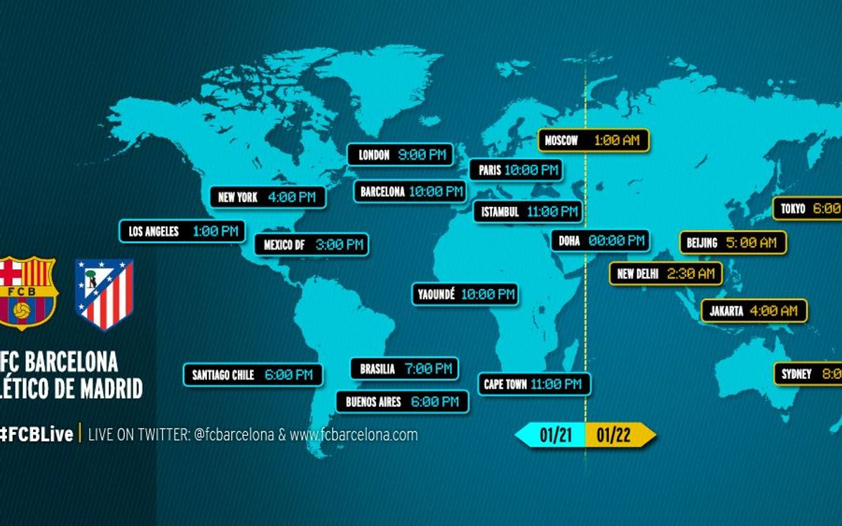When and where to watch FC Barcelona - Atlético Madrid