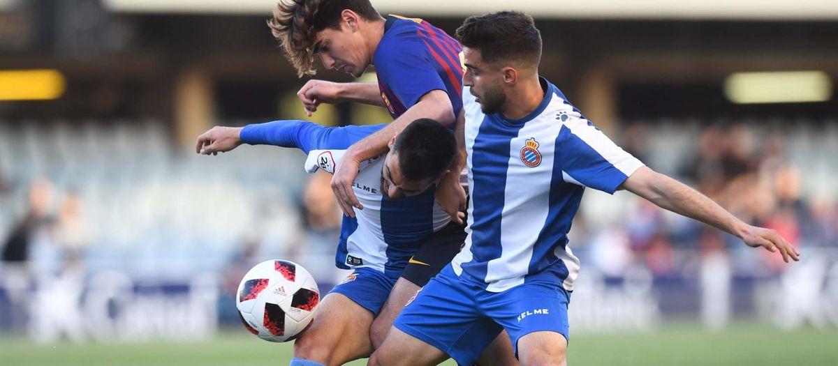 Barça B - RCD Espanyol B: Sin fortuna de cara al gol (0-1)