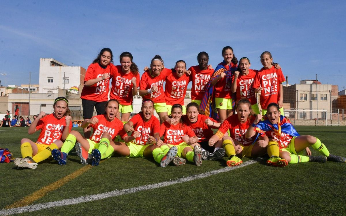 L'Infantil femení, el primer campió de Lliga del planter!