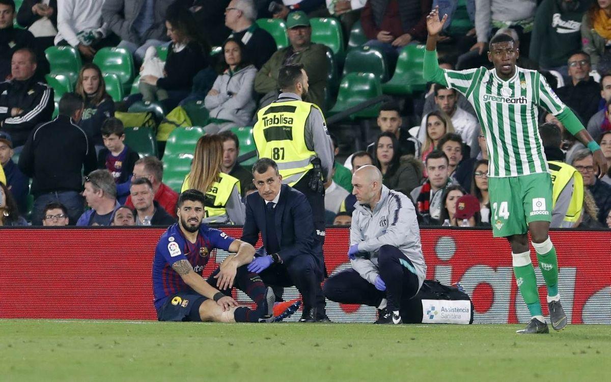 Suárez, entre 10 et 15 jours d'absence