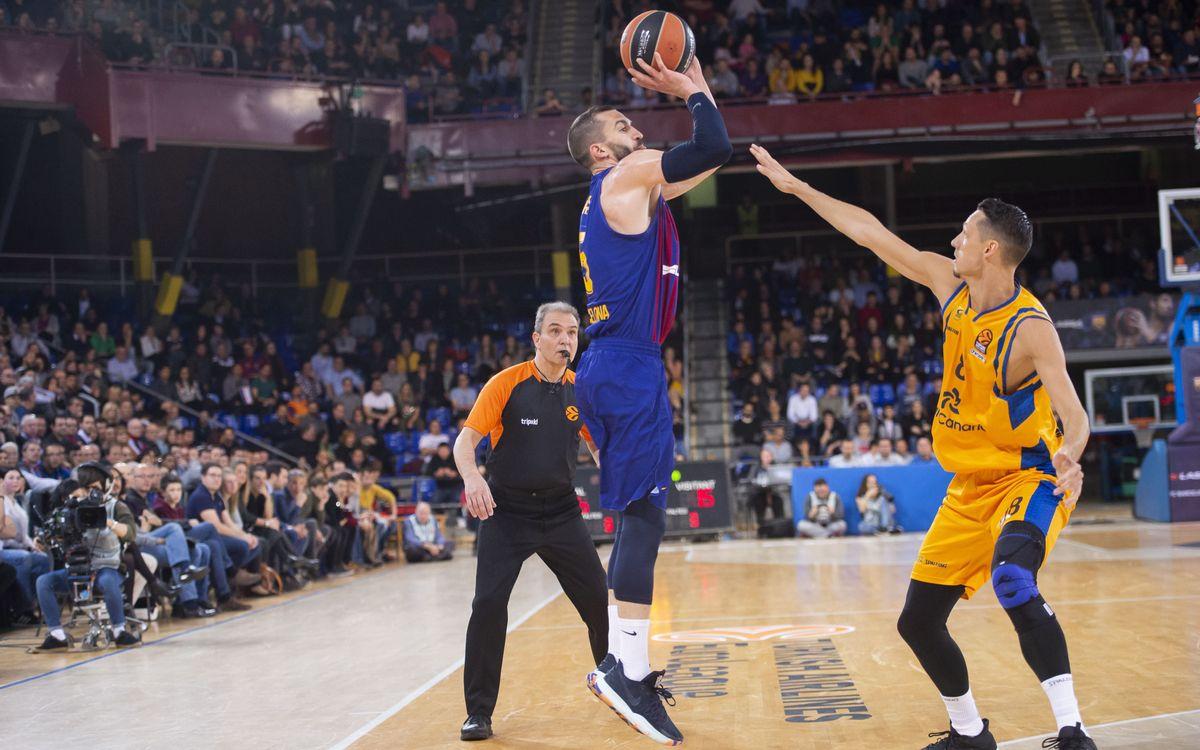 Barça Lassa - Herbalife Gran Canaria: Triunfo contundente para seguir arriba (93-64)