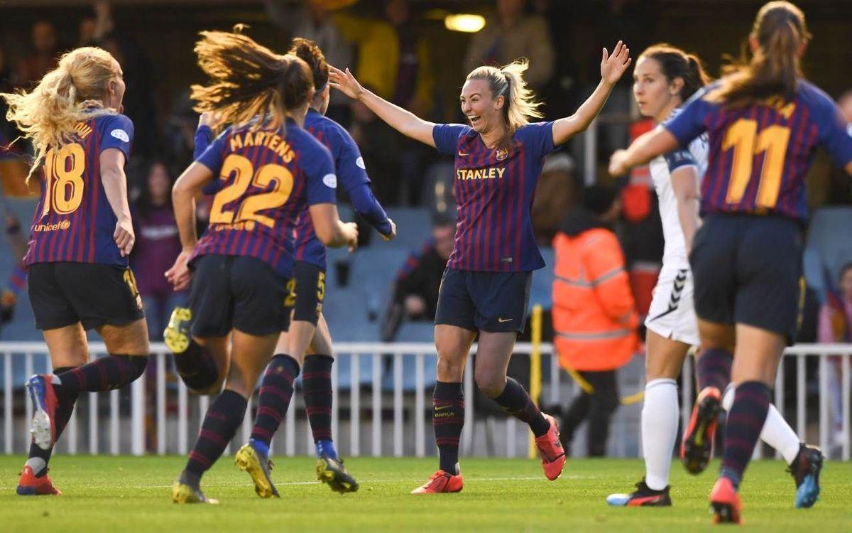 Barça - LSK Kvinner: Recital azulgrana para encarrilar el acceso a semifinales (3-0)