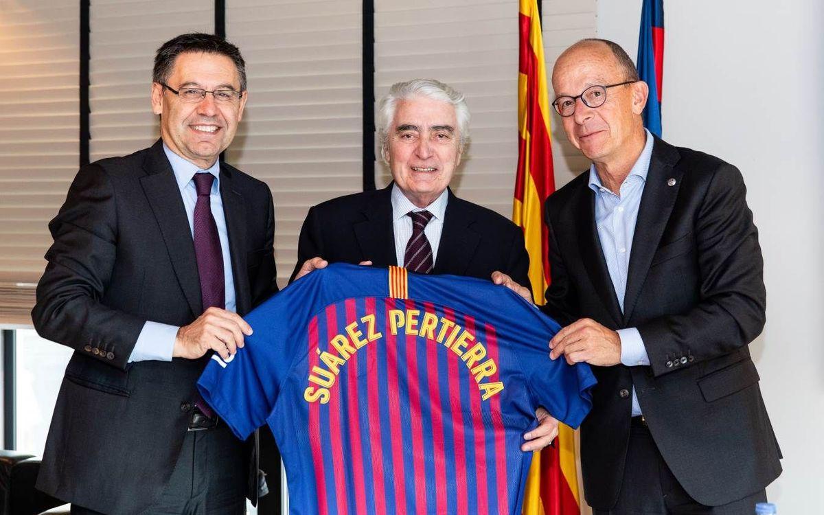 Encuentro institucional del presidente del Barça con el presidente del Comité Español de UNICEF