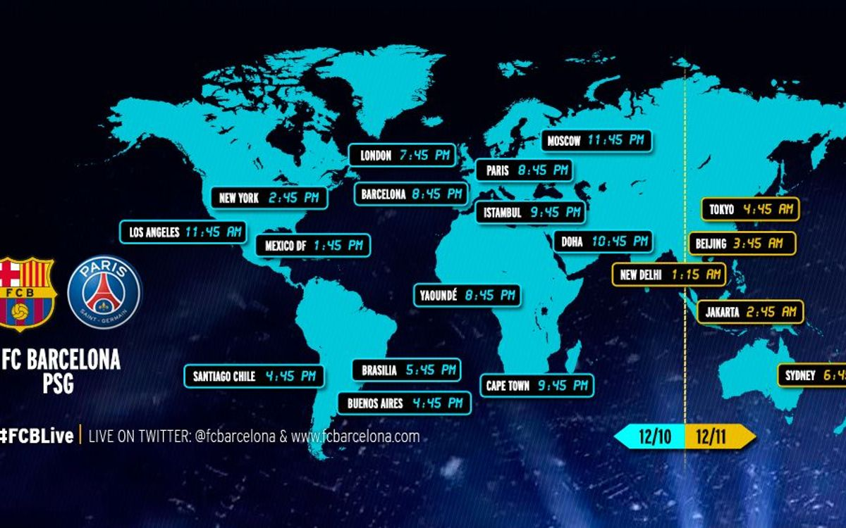 When and where to watch FC Barcelona v Paris Saint-Germain