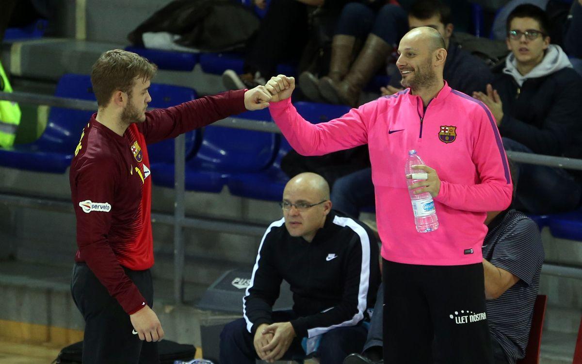 El Barça d'handbol vol tancar invicte la primera volta