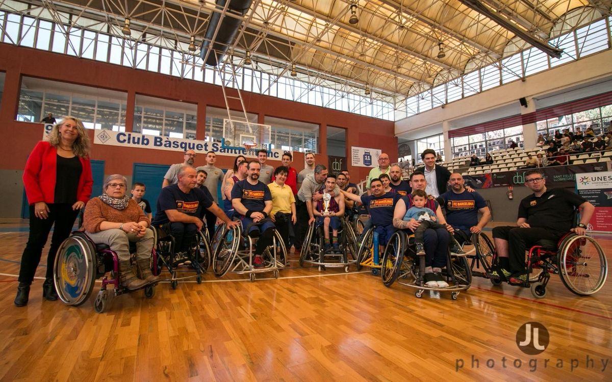 El Barça de bàsquet en cadira de rodes lluitarà per l'ascens a primera divisió