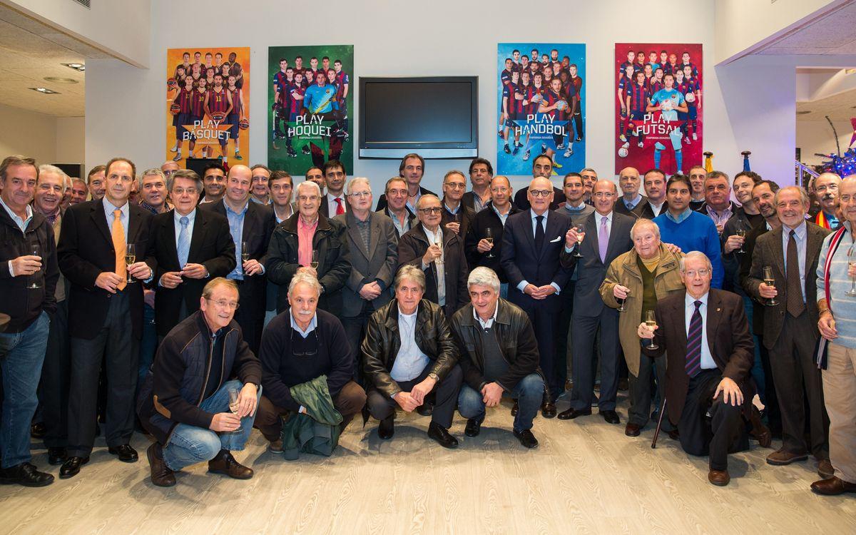 Brindis de Nadal amb els veterans de les seccions professionals