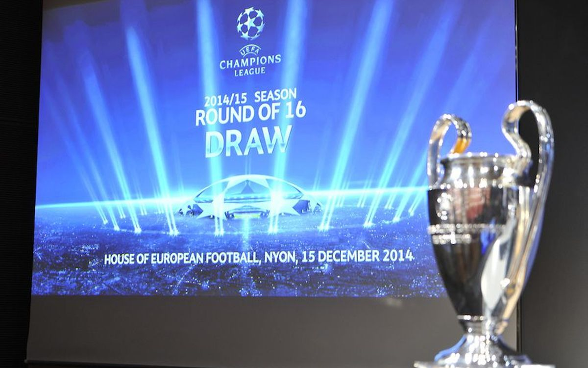 FC Barcelona's next UEFA Champions League opponent to be revealed on Monday